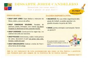 Cartell - Dissabte Candelero 25 Abril