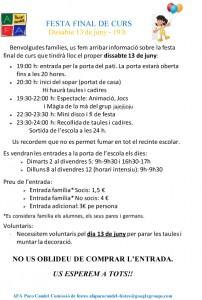 circular - FESTA FINAL DE CURS