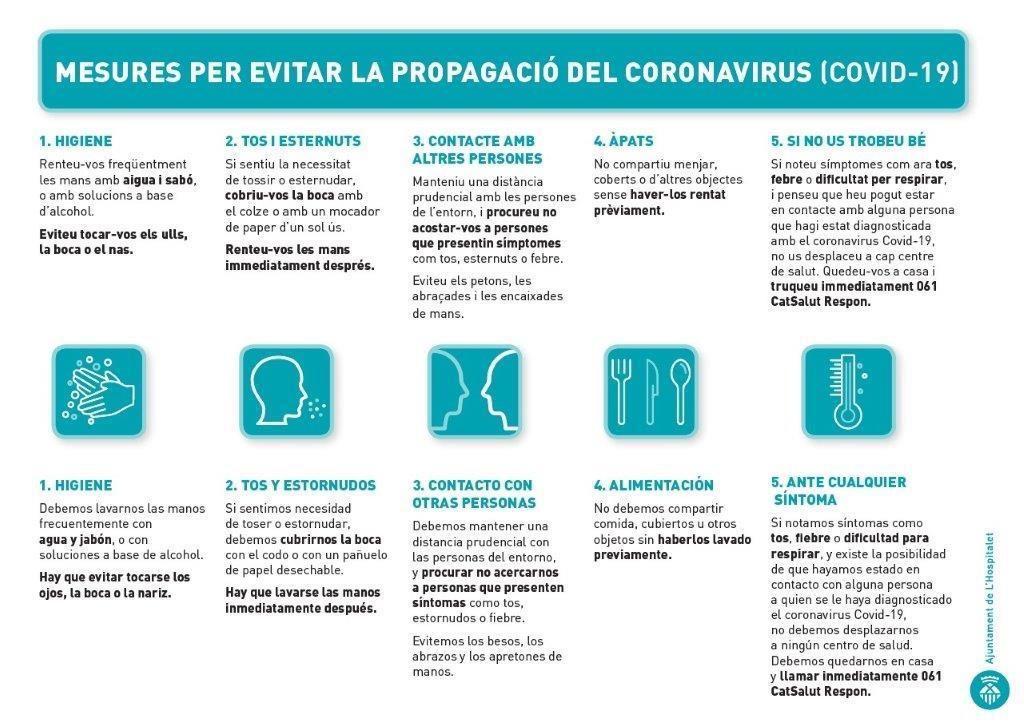 Mesures evitar coronavirus